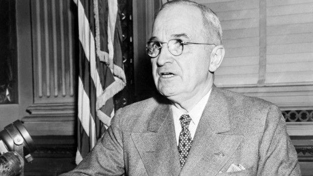 Dema ku Emerikayê, li ser Japonyayê bombe barandin, li serokatiyaEmerikayê Harry Truman hebû.