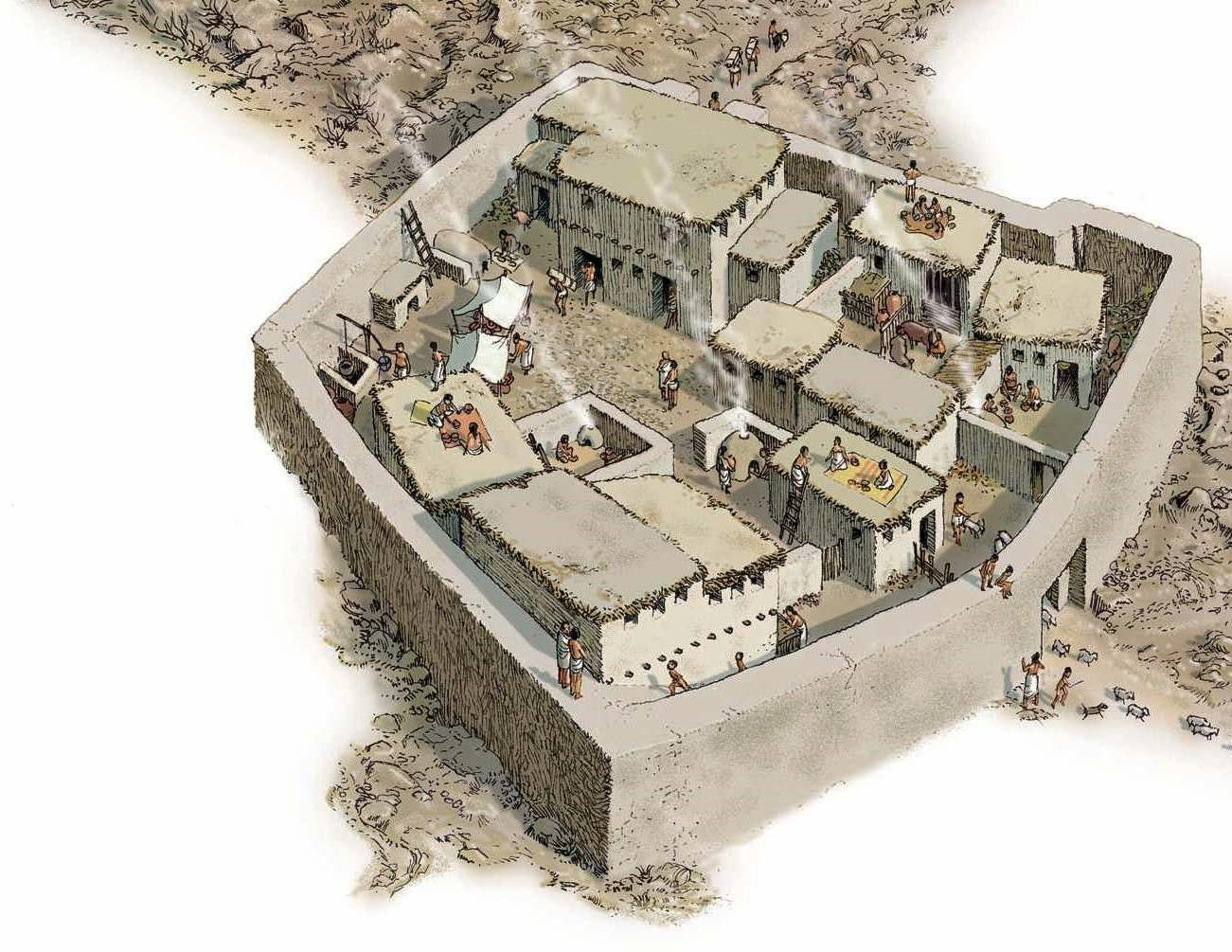 Li Mezopotamyayê jî Îllustrasyona jiyana gund a neolitik
