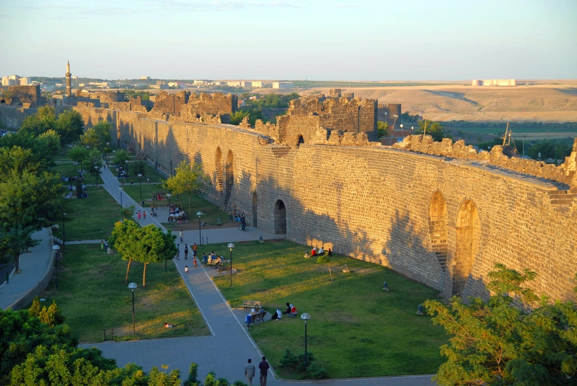 Vue de l''intérieur de la forteresse